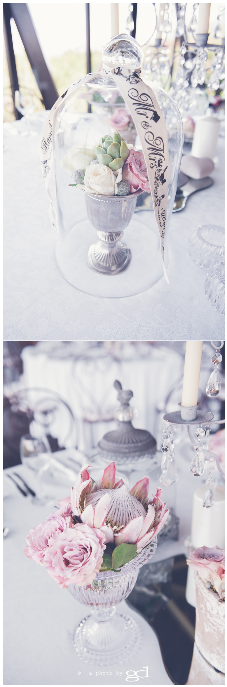 Red Ivory wedding decor, © a photo by gd