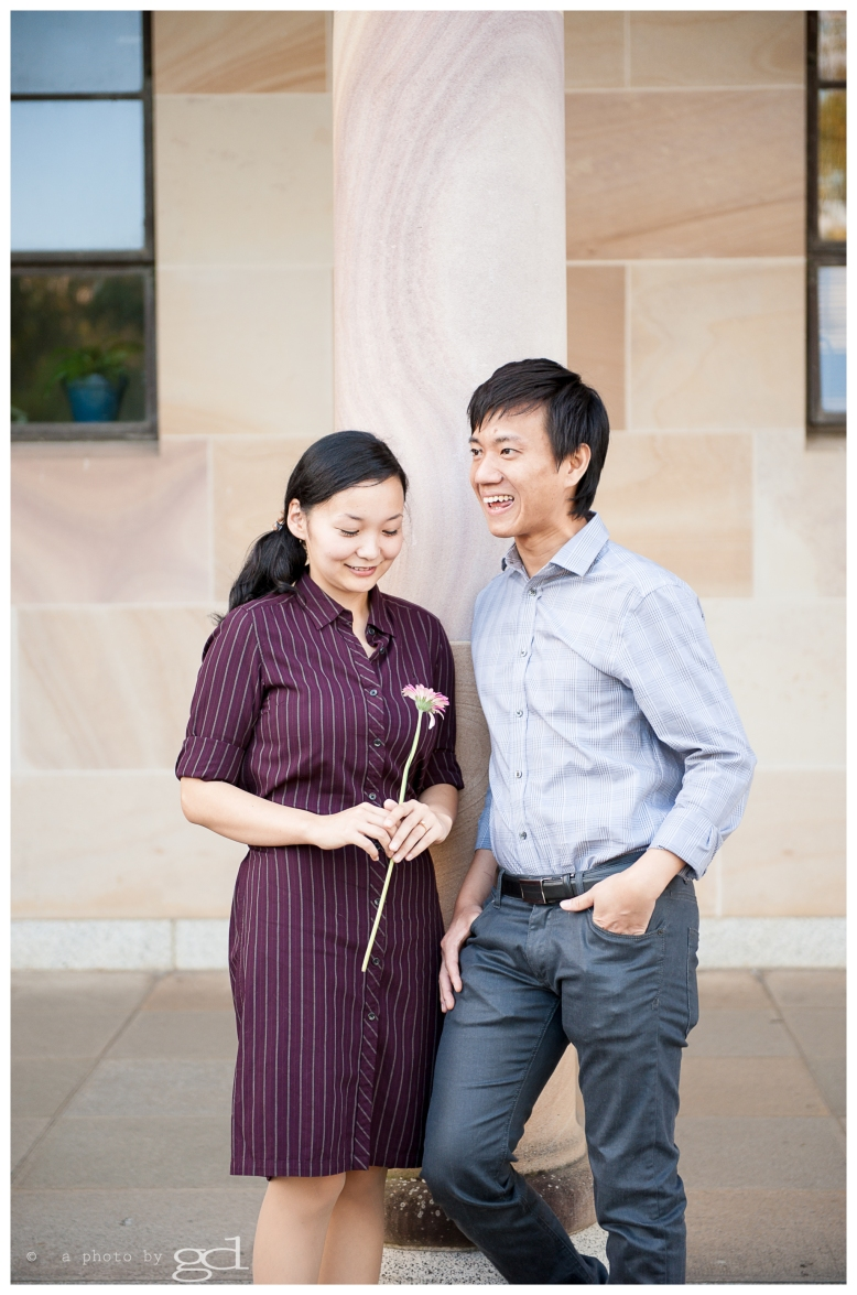 Engagement photos UQ Brisbane